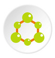 green molecule structure icon circle vector image vector image