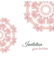 Greeting Card Ornament Pink Flowers vector image