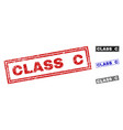 grunge class c scratched rectangle watermarks vector image vector image