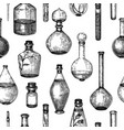 hand-sketched glass equipment collection for vector image vector image
