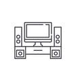 home cinema line icon concept home cinema vector image vector image
