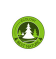 icon of green nature tree ecology vector image