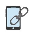 Isolated smartphone device design vector image