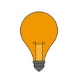 light bulb creativity idea innovation icon vector image vector image