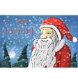 Merry Christmas moon snow Santa Claus Text I am vector image vector image