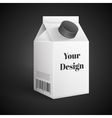 Milk Juice Beverages Carton Package Blank White vector image vector image