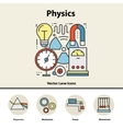 Modern color concept of physics for school vector image