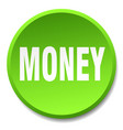money green round flat isolated push button vector image vector image
