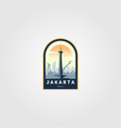 monument national jakarta logo symbol design vector image