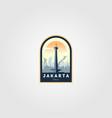 monument national jakarta logo symbol design vector image vector image