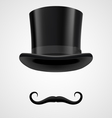 moustaches and top hat victorian aristocrat vector image vector image