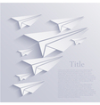 origami airplane icon background vector image