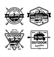outdoor camping and rv campers park vector image