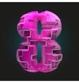 pink plastic figure 8 vector image vector image