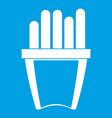 portion of french fries icon white vector image