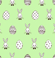 retro easter seamless pattern with rabbits vector image