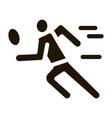 run tennis player icon glyph vector image vector image