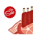sale of butcher products vector image