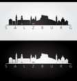 salzburg skyline and landmarks silhouette vector image vector image