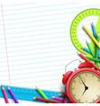 school equipment background vector image vector image
