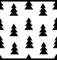seamless black and white pattern with fir trees vector image