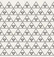 seamless monochrome triangular ethnic pattern vector image vector image