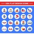 set flat design usa travel icons infographics vector image vector image