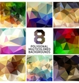 Set of abstract polygonal background vector image