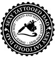 sexy tattooed dad vector image