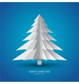 simple christmas tree made from pieces paper vector image vector image
