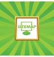 Sitemap picture icon vector image vector image