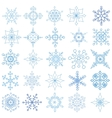 Snowflakes big setChristmasNew yearWintershapes vector image vector image