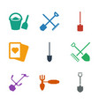 spade icons vector image vector image
