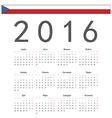 Square Czech 2016 year calendar vector image
