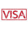 stamp text visa vector image