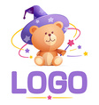 Teddy-bear character for logo vector image
