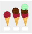The price list with a set of balls of ice-cream vector image