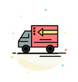 truck delivery goods vehicle abstract flat color vector image