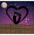 two cats in love vector image