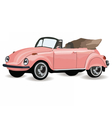 Vintage Retro car isolated vector image