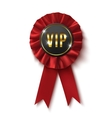 VIP Realisticred label isolated on white vector image