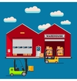 Warehouse infographic flat design vector image