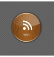 Wi-fi wood application icons vector image