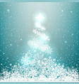 winter glowing spruce from snow vector image vector image