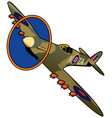 world war ii british fighter airplane vector image vector image