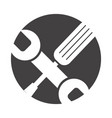 wrench and screwdriver isolated icon vector image vector image