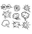 cartoon explosions vector image