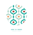 Colorful chain ikat frame circle decor pattern vector image