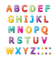 Abc font vector image