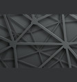 abstract dark background with pattern of cobweb vector image vector image